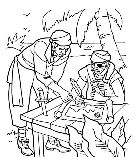 pirate treasure map coloring page az coloring pages