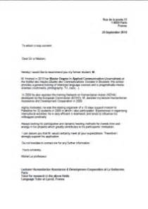 Lettre De Recommandation Université Laval Exemple De Lettre De Motivation Pour Universit 233 En Anglais Covering Letter Exle