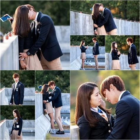 film drama park shin hye lee min ho and park shin hye film their first kiss scene
