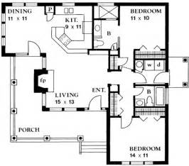 Small Floor Plans Cottages by Country Style House Plan 2 Beds 2 Baths 1065 Sq Ft Plan