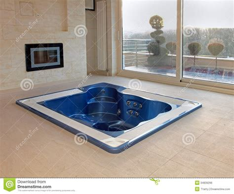 bathtub in floor floor hot tub royalty free stock image image 34839296