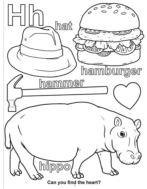 letter h coloring pages tracing letter h pages coloring pages