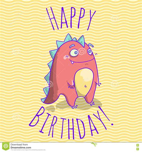 Happy Birthday Cards Characters Happy Birthday Card Template For Children With Funny