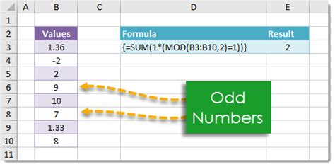 how to count all odd numbers in a range | how to excel