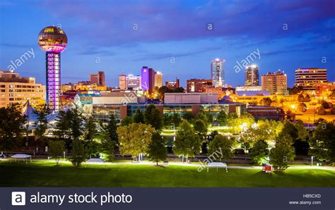 american lighting knoxville tn downtown knoxville tennessee city skyline and city lights