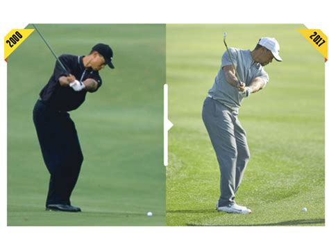 tiger woods golf swing 2000 how tiger s swing has changed how tiger woods today compares