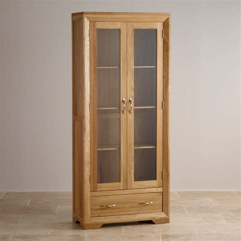 oak cabinets bevel glazed display cabinet in solid oak oak furniture land