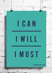Wall Vinyls Home Decor cool abstract motivation i can i will i must wall posters
