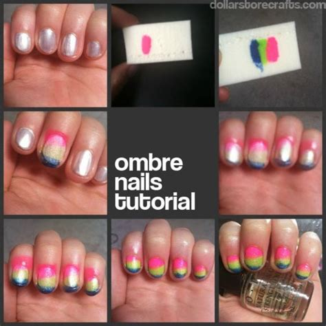 tutorial nail art ombre nail tutorial easy ombre nails 187 dollar store crafts
