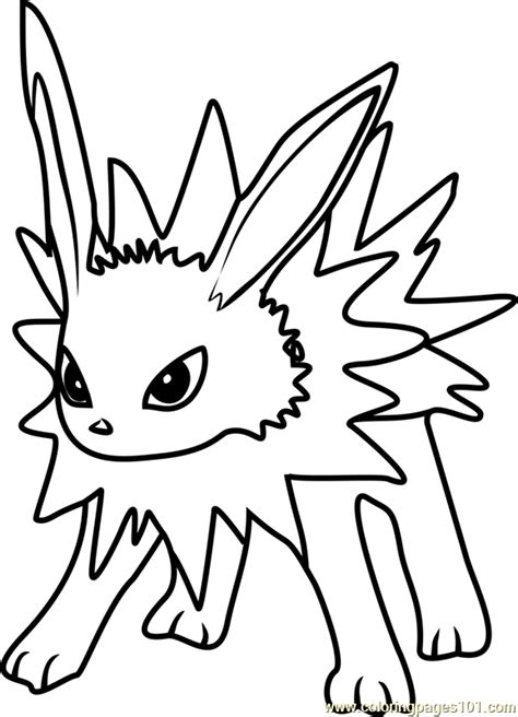 pokemon coloring pages jolteon jolteon pokemon go coloring page free pok 233 mon go