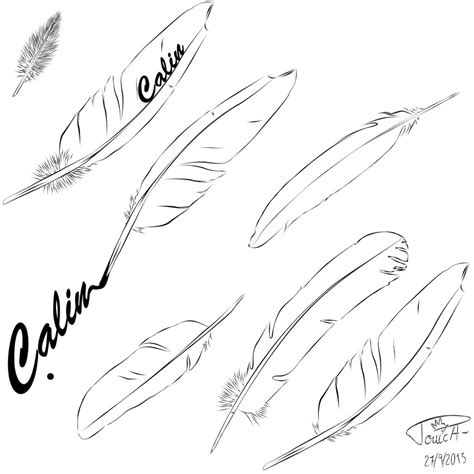 Feather Coloring Pages Feather Coloring Pages
