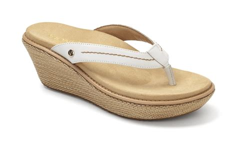 the vionic grenada toe post wedge sandal orthotic shop