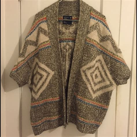 aeo patterned kimono 81 off american eagle outfitters sweaters american