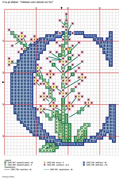 lettere con fiori alfabeto colori delicati con fiori c alfabeti a punto