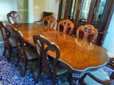 bernhardt grand china cabinet bernhardt grand dining room table chairs china