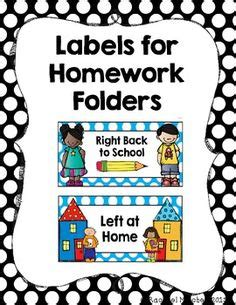 left at home right back to school take home folder