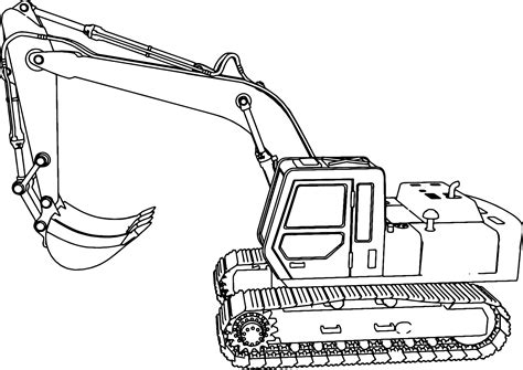 excavator coloring page printable excavator coloring pages little digger coloring page