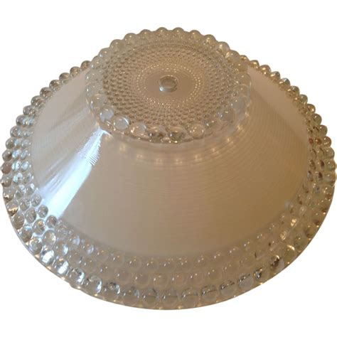 Vintage Ceiling Light Covers Vintage Ceiling Light Cover With Hobnail Design Sold On Ruby