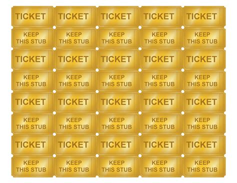 free printable golden ticket templates blank golden