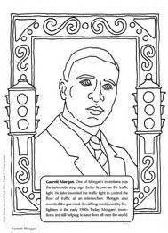 garrett morgan coloring sheet inventor of the traffic