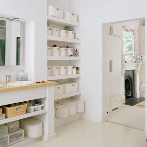 shelving for small bathrooms ideas para organizar ba 241 os peque 241 os