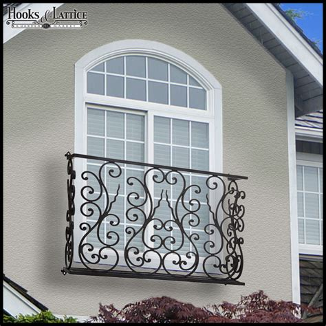 aubergine faux balcony railing