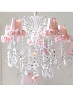 pretty pink chandelier for girls room homesfeed future baby children room s on pinterest baby crib