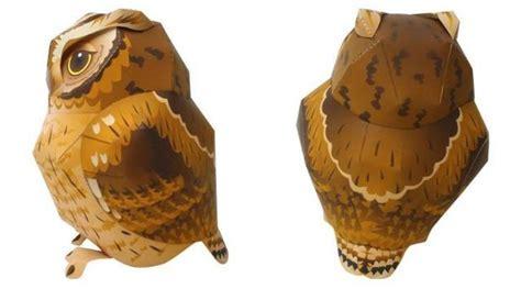 Papermau Barn Owl Miniature Paper Model By Ayumu Saito - papermau tropical screech owl paper model by ayumu