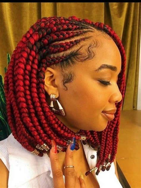lace front  cornrow  braids bob braided wig box