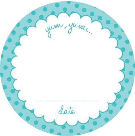 Printable Round Sticker Paper | amy j delightful blog printable jar labels for you