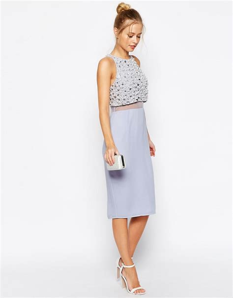 asos asos pearl embellished crop asos asos pearl embellished crop top midi dress at asos