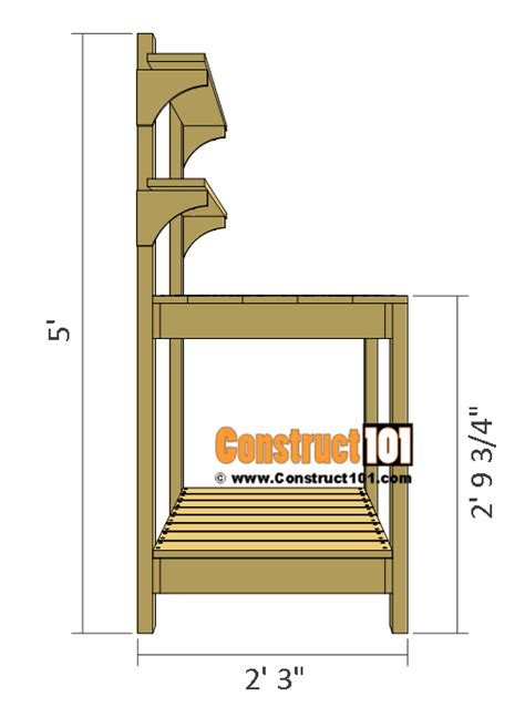 free potting bench plans pdf simple potting bench plans outdoor diy project
