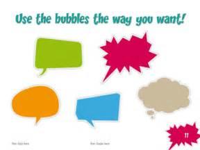 speech balloon template speech bubbles free template for powerpoint and impress