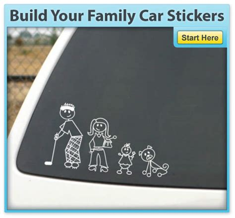 Aufkleber Auto Familie by Family Stickers Family Car Stickers