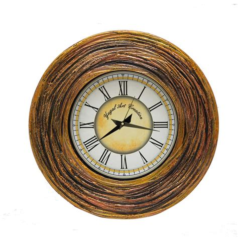 Handcrafted Wood Clocks - wooden handcrafted wall clock yac34 buy wooden
