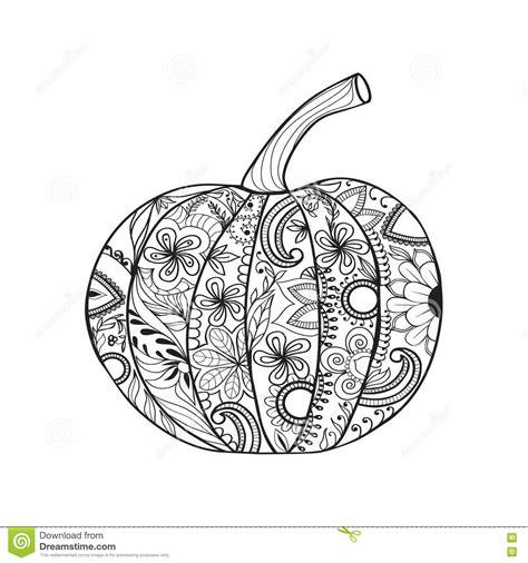 doodle zucca di zucca di stile di zentangle per il giorno di