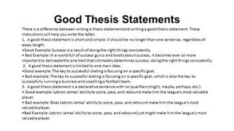 Good Thesis Examples What Is A Thesis Statement Ppt Download