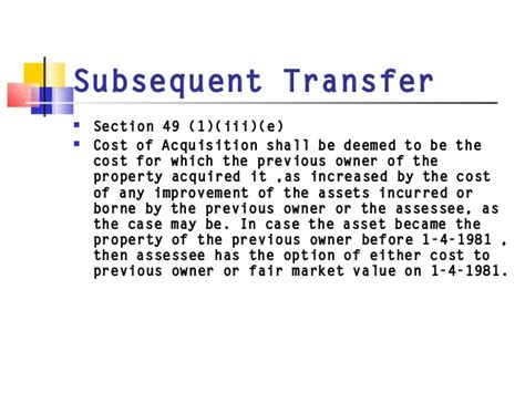 transfer of land section 45 tax issues in mergers and acquisitions