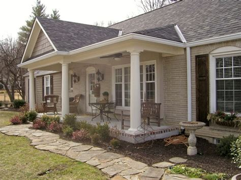 ranch homes with front porches front porch addition ranch house pinteres