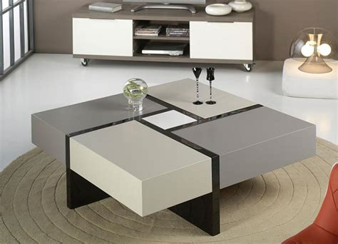 contemporary high gloss white or anthracite robin coffee