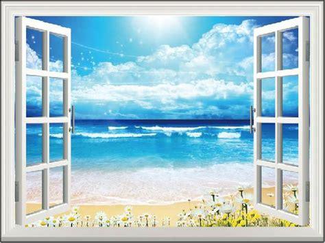 background jendela diy window pemandangan di luar jendela palsu stiker 70