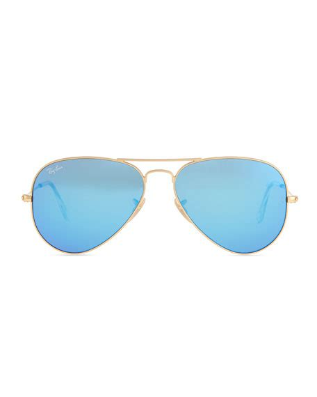 Rayban Aviator Mirror Blue Original ban aviator sunglasses with flash lenses gold blue mirror