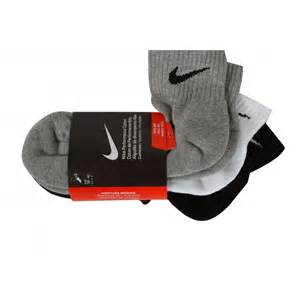 Quarter Shocks Nike 3 Pack Cushion Quarter Socks