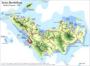 map st island st barts island map images