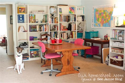 Corner Table Desk A Tour Of Our Homeschool Room See Jamie Blog