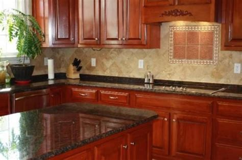 Cherry Wood Kitchen Cabinets With Black Granite Medium Cherry Cabinets And Granite Granite Counters With Cherry Wood Cabinets And Ceramic Tile