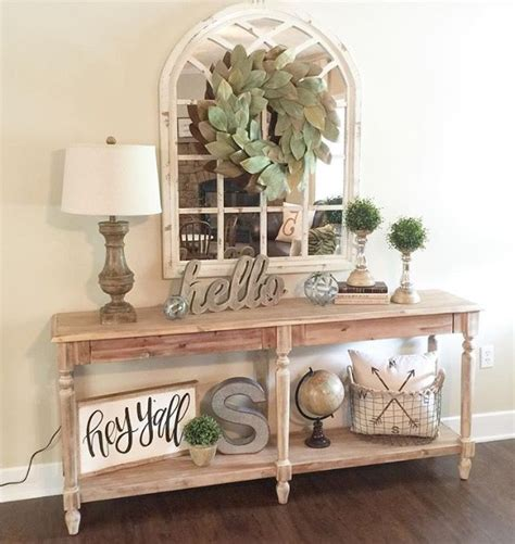 entry table decor entry way or empty wall living room home