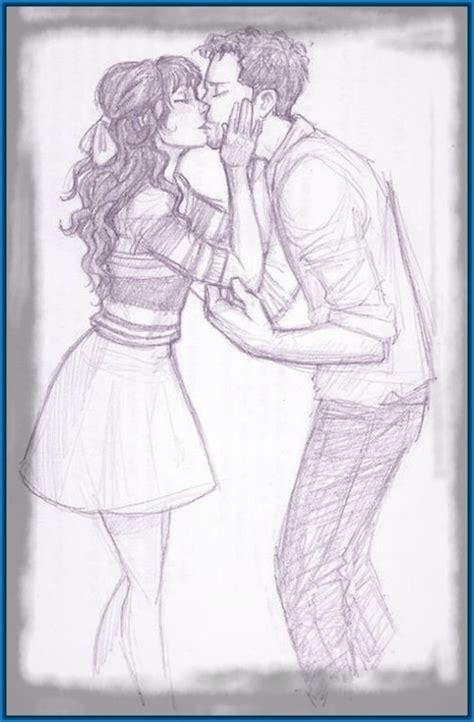 imagenes a lapiz de parejas besandose personas archivos dibujos de amor a lapiz