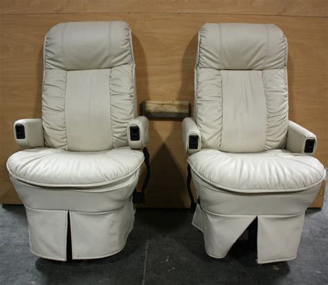 used leather recliners for sale rv furniture used leather flexsteel rv captain chairs for