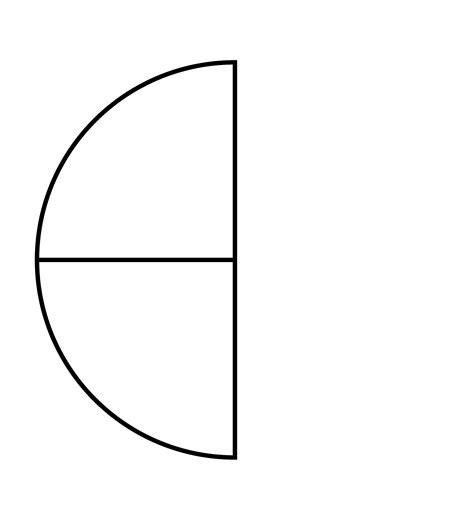 quarters   fraction pie clipart